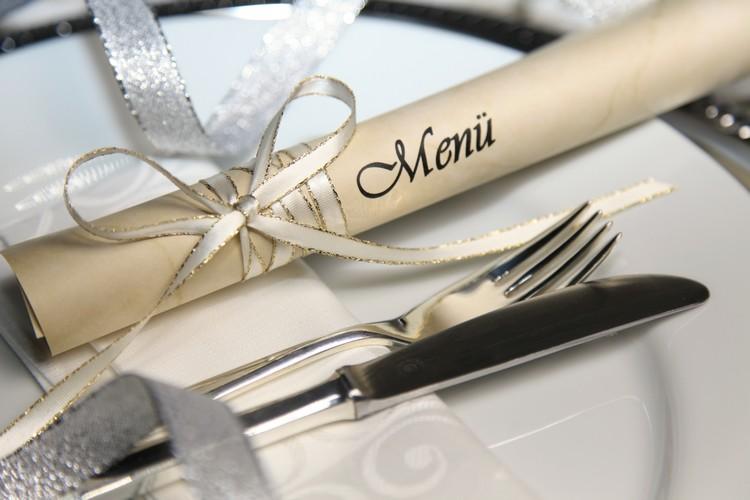 Menu de fêtes pour un restaurant