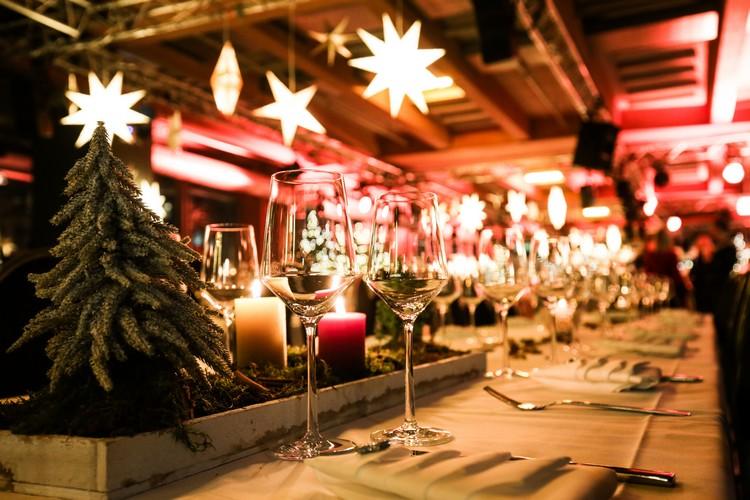 Décoration Noël dans un restaurant